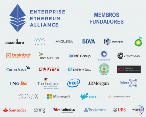 Ethereum Alliance - Membros Fundadores