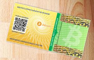 Exemplo de Paper-Wallet, que pode ser gerada em um ambiente offline.