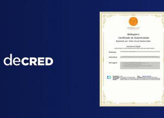 Certidão de nascimento Decred