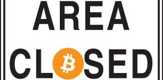 Bitcoin proibido - Área Fechada