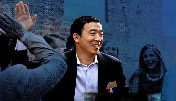 Andrew Yang, candidato à presidência dos EUA revela manifesto em defesa das criptomoedas