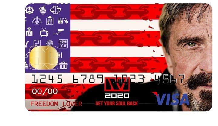John McAfee lança cartão Bitcoin (Reprodução/Twitter)