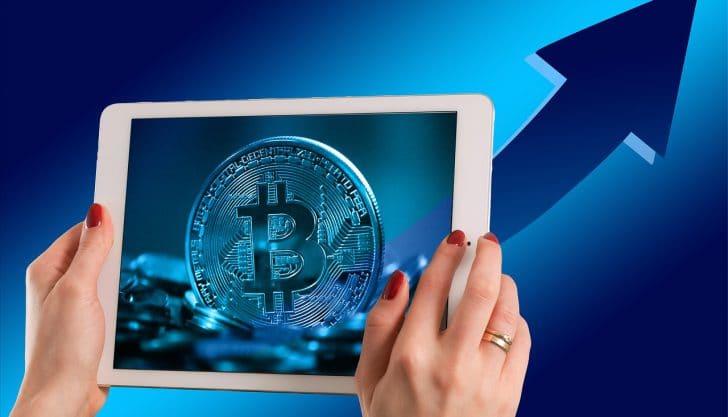 Subida de preços do Bitcoin
