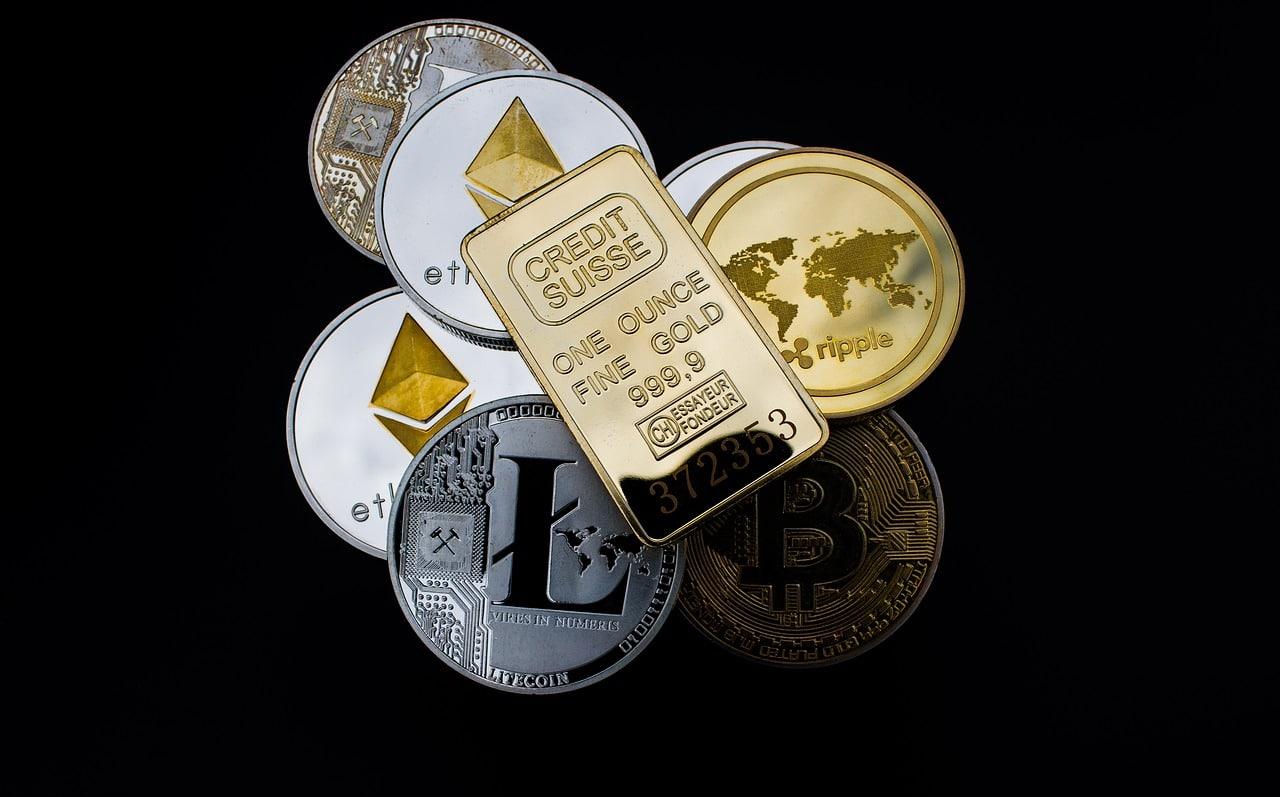Ouro criptomoedas