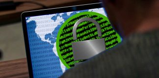 Computador infectado por ataque ransomware