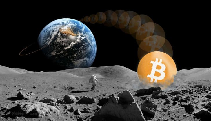 Bitcoin indo para a Lua (To The Moon)