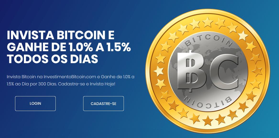 Capa do site da Investimento Bitcoin