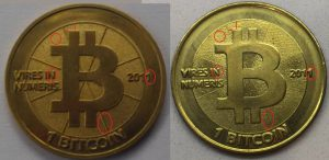 A história das moedas físicas de Bitcoin 14