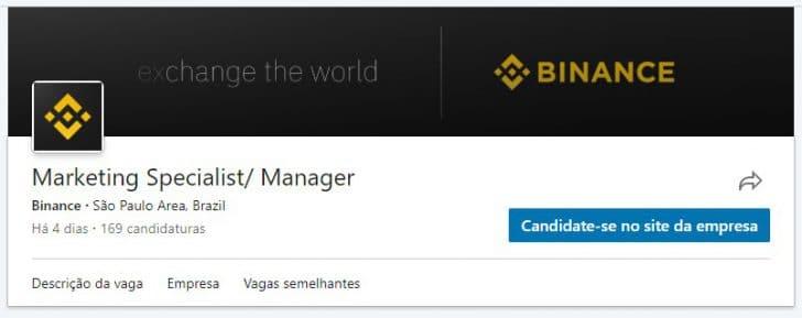 LinkedIn Binance