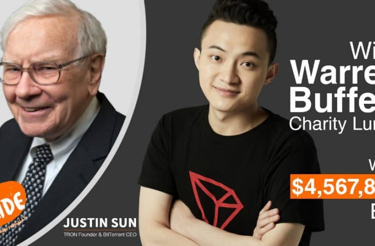 Justin Sun, CEO da Tron, compartilha refeição com Warren Buffett