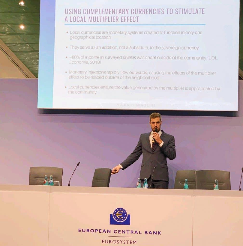 Yakko Majuri faz palestra sobre criptomoedas locais no Banco Central Europeu