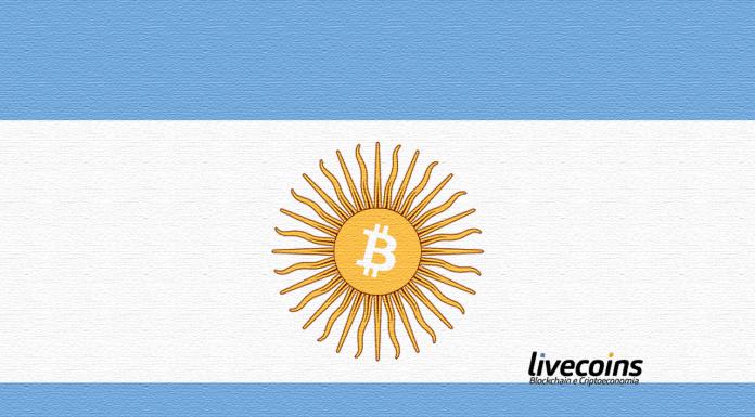 Bitcoin (BTC e Blockchain) na Bandeira da Argentina