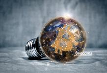 Lâmpada com Bitcoin