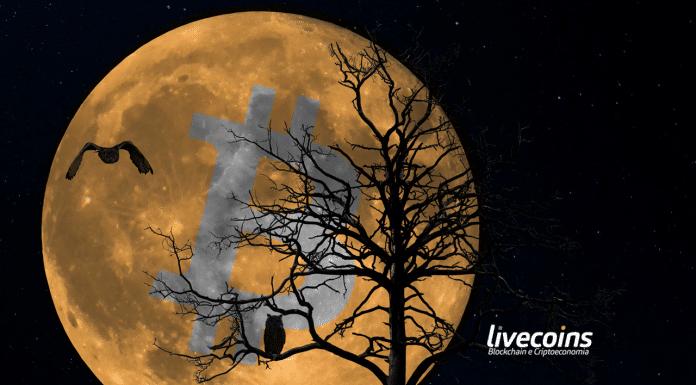 Bitcoin to the Moon (na lua). Imagem: Sabotag3x