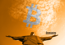 Cristo Redentor, símbolo no Brasil (Rio de Janeiro), e Bitcoin (BTC Blockchain)
