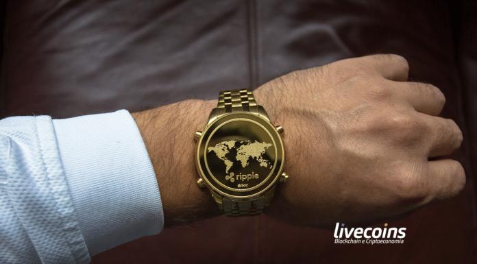 Relógio com a Logo da Criptomoeda Ripple