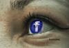Olho com logomarca do Facebook