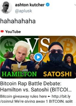 ashton kutcher compartilha vídeo sobre bitcoin