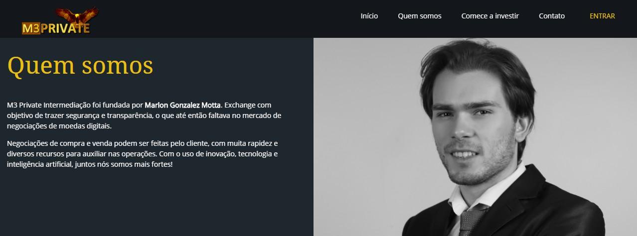 "M3 Private é empresa fundada por Marlon Gonzales, ""Playboy das Bitcoins"" alega inocência"