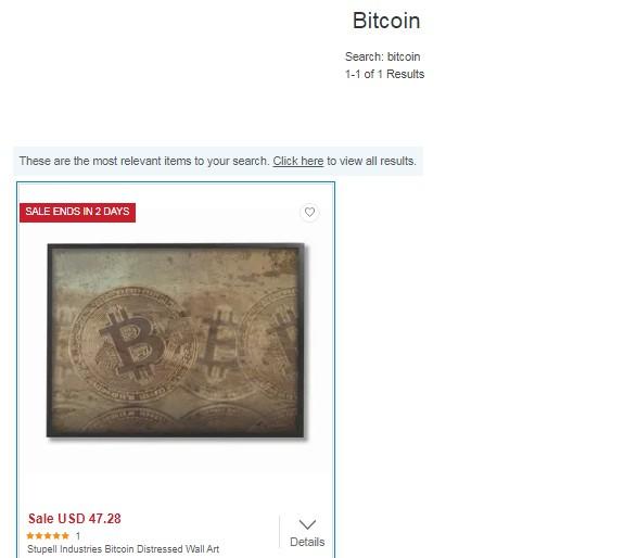 Quadro de Bitcoin à venda