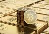 Bitcoin e Barras de Ouro