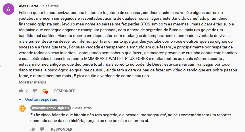 Em segundo post, internauta cita outras pirâmides supostamente apoiadas por Ronaldo