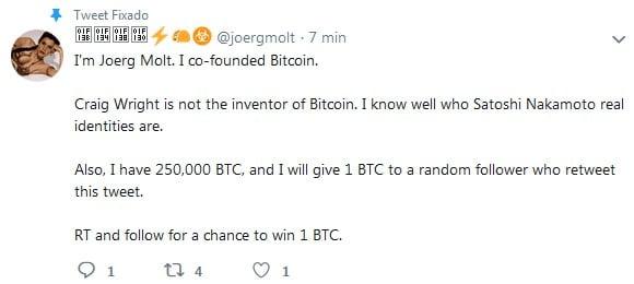 """""""Satoshi Nakamoto"""" quase apanha em evento de Bitcoin nos EUA se chama Joerg Molt"""