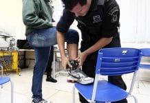 Exemplo de tornozeleira