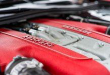 Motor de uma Ferrari