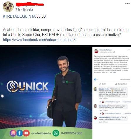 Comunidade de Bitcoin Brasil comenta sobre possível suicídio de investidor da Unick Forex