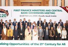 Reunião do G20 em 2020 - Presidentes de Bancos Centrais e Ministros de Finanças