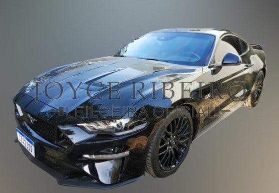Mustang GT blindado sendo leiloado, carro pertencia a líderes de pirâmide financeira