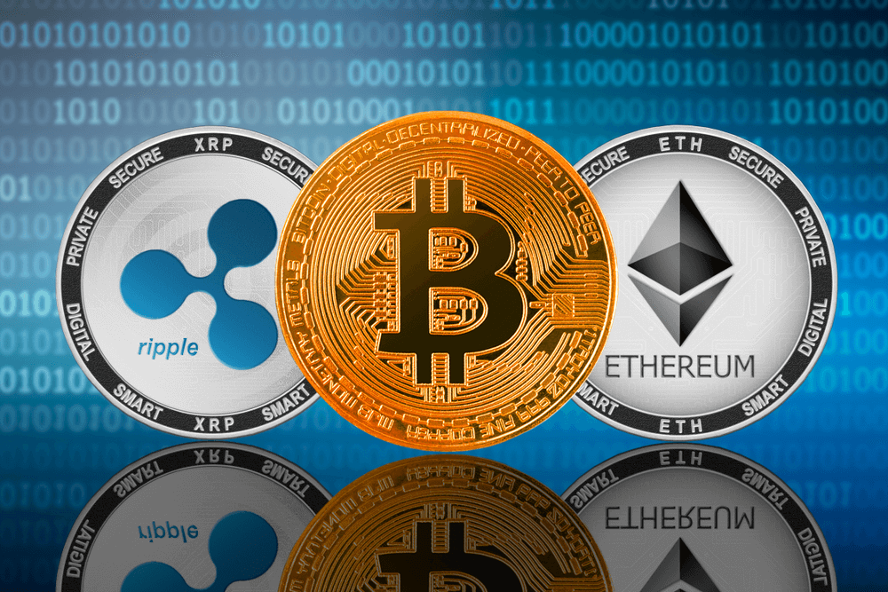 Bitcoin Ethereum e Ripple