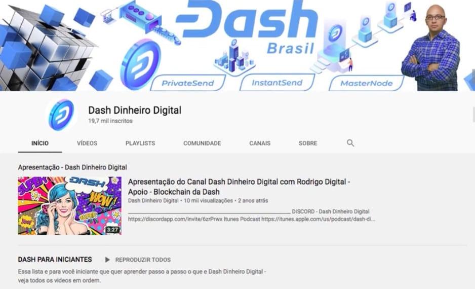 Canal Dash Brasil no Youtube
