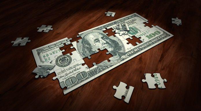Quebra cabeça de dólar