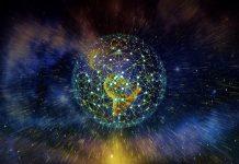 Rede em torno do globo, infraestrutura de tecnologia