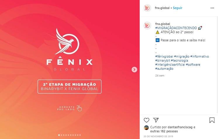 """Após fim da BinaryBit, Fênix Global foi """"criada"""" e migrou base de clientes para novo negócio"""