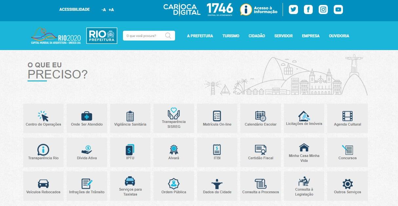 Site da Prefeitura Municipal do Rio de Janeiro