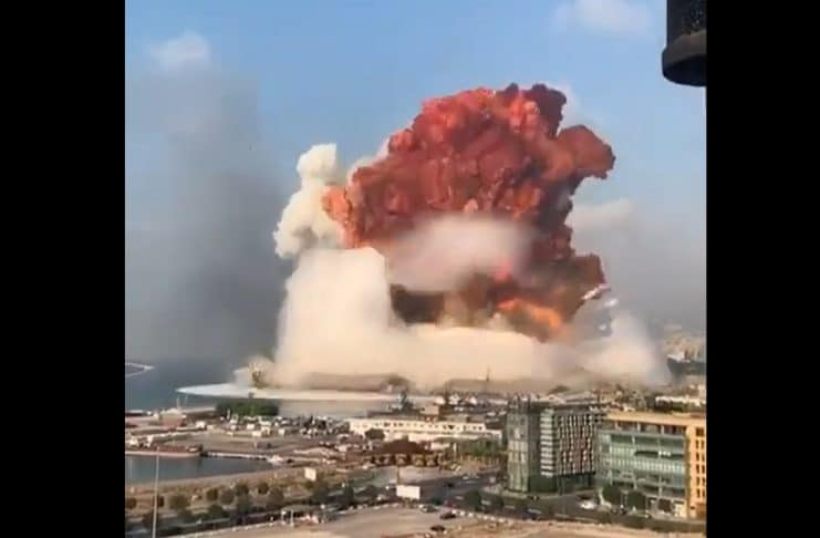 Explosão na Capital do Líbano, Beirute