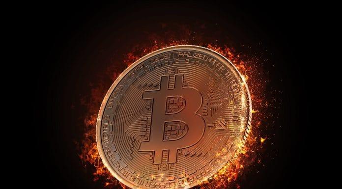 Bitcoin em chamas