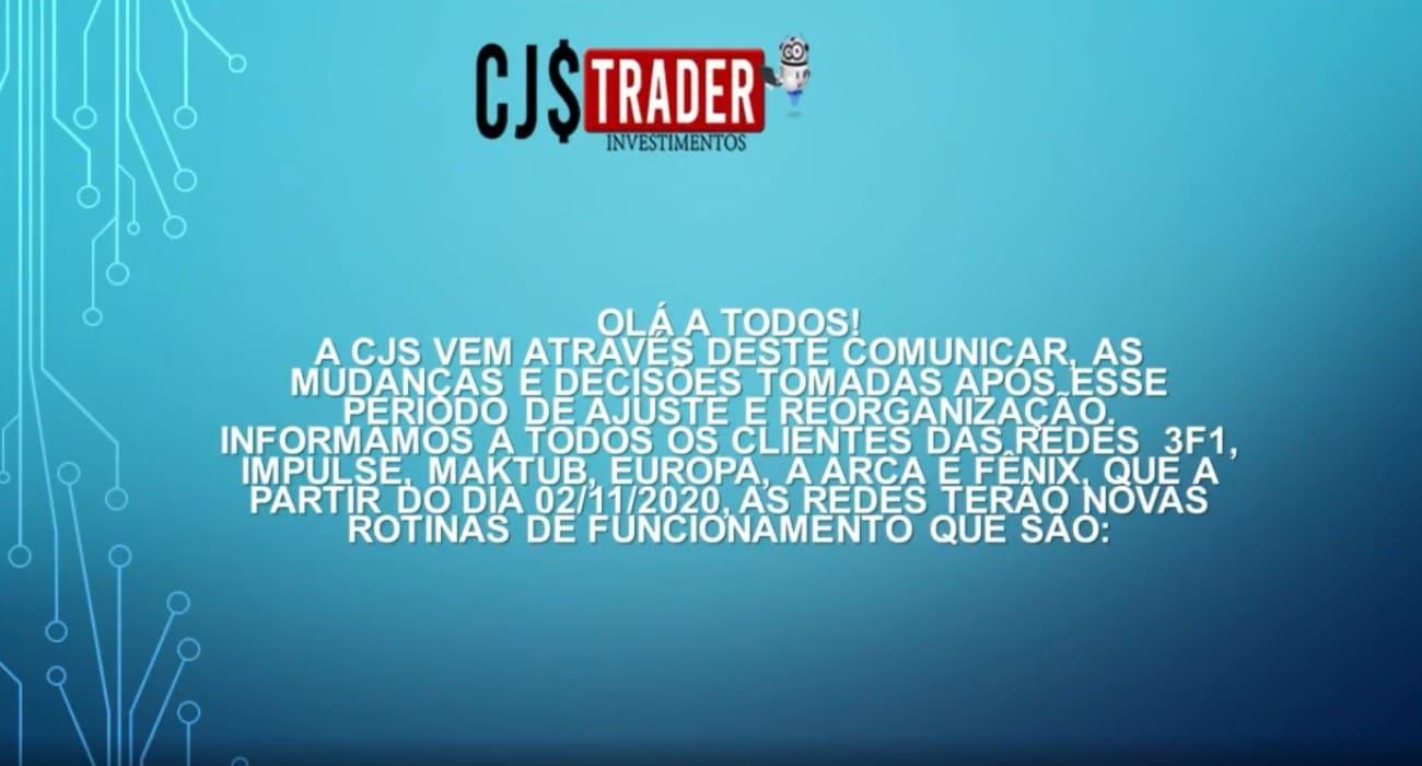 CJS Trader anunciou reorganização em novembro de 2020