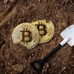 Mineração de Bitcoin com pá no chão