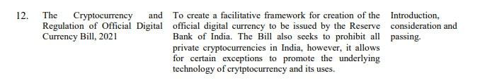 Criptomoedas privadas India