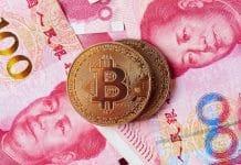 BItcoin e moeda Yuan da China