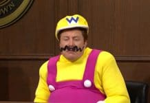 Elon Musk interpretando Wario. Imagem: Youtube