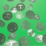 Pilha de Dólar Tether caindo