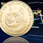 Preço da Dogecoin em queda no mercado