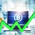 Preço do Bitcoin em alta