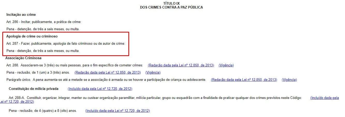Artigo 287 do Código Penal Brasileiro, sobre crimes contra a Paz Pública