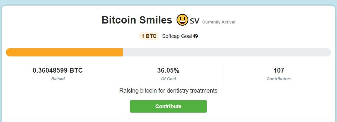 Bitcoin Smiles já juntou 0,36 Bitcoin para colocar dentes em pessoas carentes